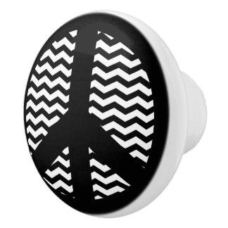 Botones de cerámica del zigzag de Chevron del Pomo De Cerámica