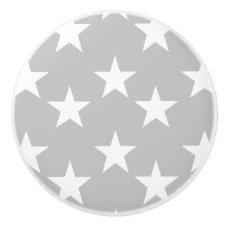 Botones de cerámica grises y blancos del modelo de pomo de cerámica