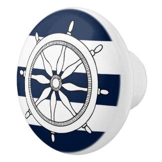 Botones de cerámica/tirones de la rueda náutica de pomo de cerámica