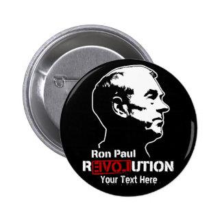 Botones de Custopmizable de la revolución de Ron P Pins