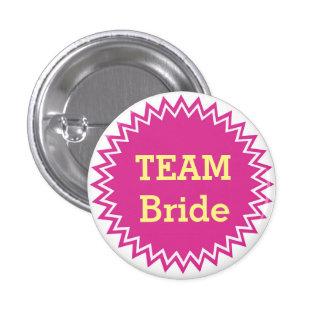 Botones de encargo de la novia del equipo del boda pin redondo de 1 pulgada
