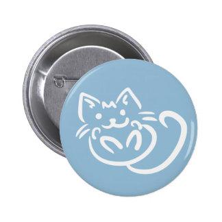 Botones de encargo del color del ejemplo del gato pin redondo de 2 pulgadas
