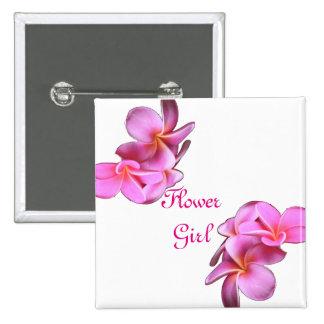 Botones de encargo del florista del boda de la pin cuadrado