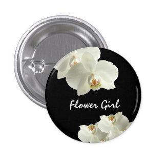 Botones de encargo del florista del boda de la pin redondo de 1 pulgada