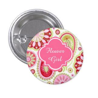 Botones de encargo del florista del boda de pin redondo de 1 pulgada