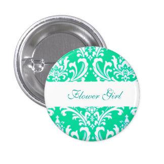 Botones de encargo del florista del boda del pin redondo de 1 pulgada