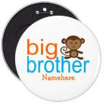 Botones de encargo del mono de hermano mayor pin