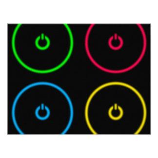 Botones de encendido invitaciones personalizada
