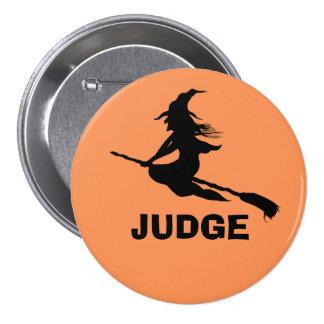 Botones de Halloween de la silueta de la bruja a m Pins