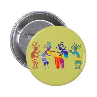 Botones de Kokopelli Pin Redondo De 2 Pulgadas