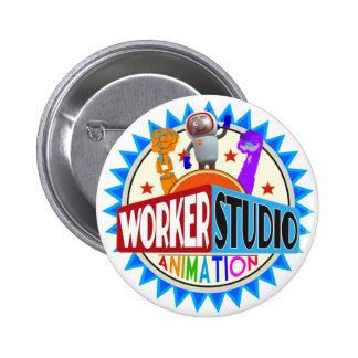 Botones de la animación del estudio del trabajador pins