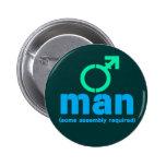 Botones de la asamblea del T-Man Pins