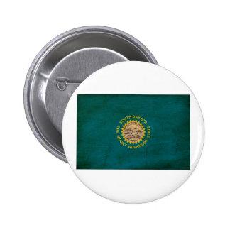 Botones de la bandera de Dakota del Sur Pins