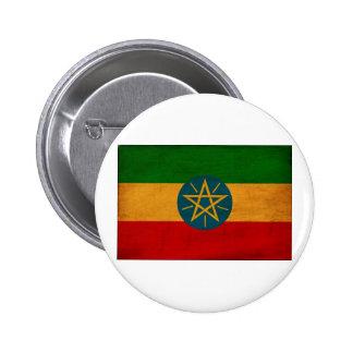Botones de la bandera de Etiopía Pin Redondo De 2 Pulgadas