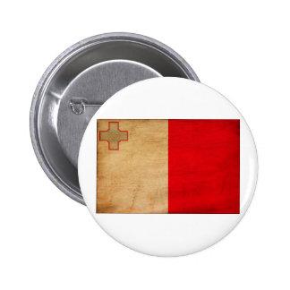Botones de la bandera de Malta Pin