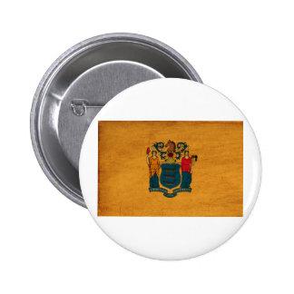 Botones de la bandera de New Jersey Pins