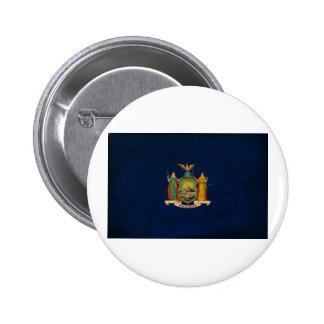 Botones de la bandera de Nueva York Pin Redondo De 2 Pulgadas