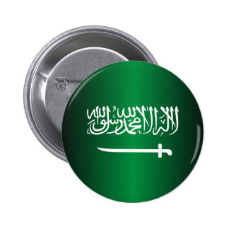 Botones de la bandera del saudí pin redondo de 2 pulgadas