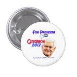 Botones de la campaña de Newt Gingrich Pin