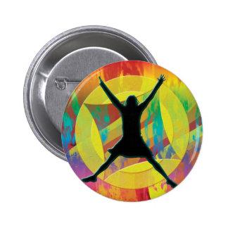 Botones de la celebración del arco iris pin redondo de 2 pulgadas