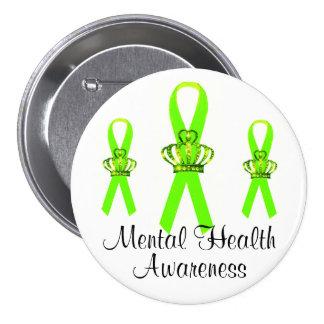 Botones de la conciencia de la salud mental de la  pin redondo de 3 pulgadas