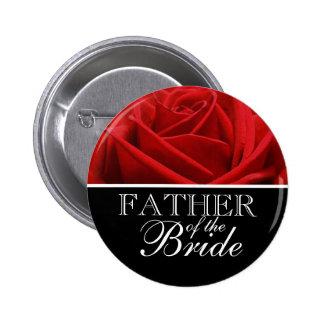 Botones de la designación del banquete de boda pin redondo de 2 pulgadas