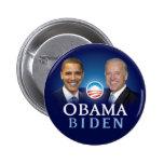Botones de la elección 2012 de Obama Biden Pin Redondo De 2 Pulgadas