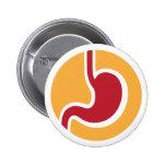 Botones de la gastroenterología del gastroenterólo pin