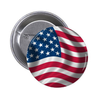 Botones de la insignia del botón de la bandera ame pin redondo de 2 pulgadas