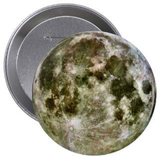 Botones de la Luna Llena Pin Redondo De 4 Pulgadas