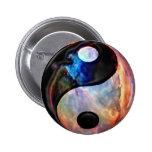 Botones de la nebulosa de Yin Yang Pins