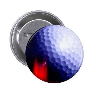 Botones de la pelota de golf pin redondo de 2 pulgadas