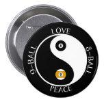 Botones de la piscina de la paz del amor pin