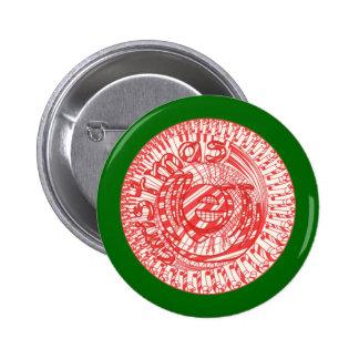 Botones de los bastones de caramelo de la bola de pin redondo de 2 pulgadas