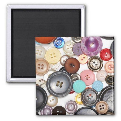 Botones de los botones de los botones imán cuadrado