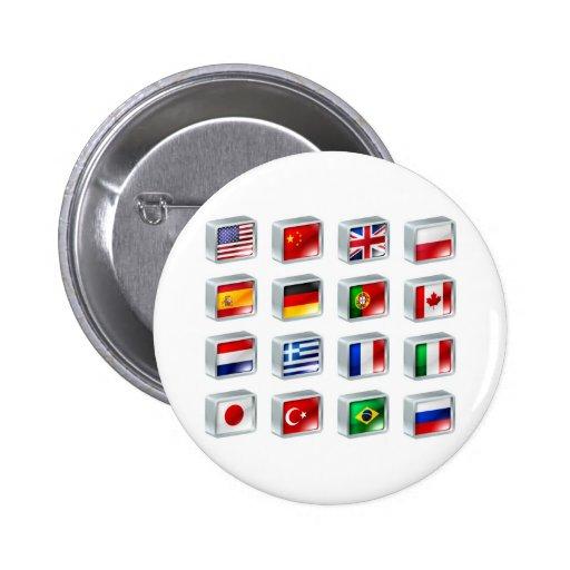 Botones de los iconos de la bandera