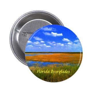 Botones de los marismas de la Florida Pin Redondo De 2 Pulgadas