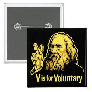 Botones de Lysander Spooner Voluntaryism Pin