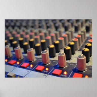 Botones de mezcla del tablero impresiones