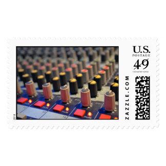 Botones de mezcla del tablero timbre postal