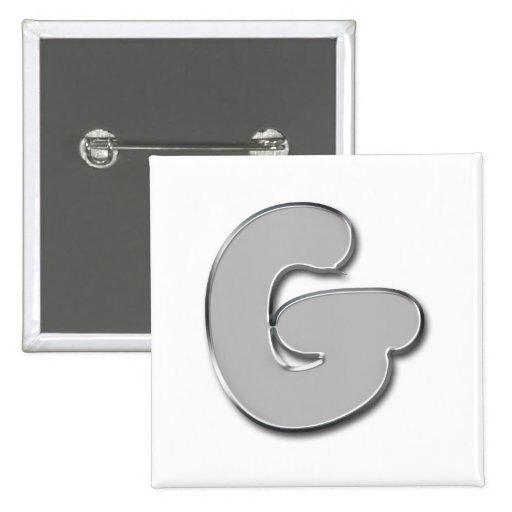 Botones de moda del monograma del metal pins