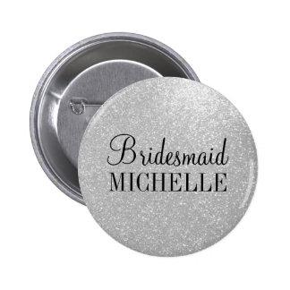 Botones de plata personalizados de las damas de pin redondo de 2 pulgadas