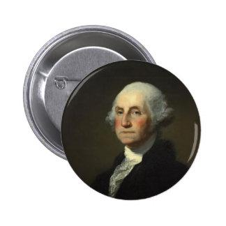 Botones de presidente George Washington Pin Redondo De 2 Pulgadas
