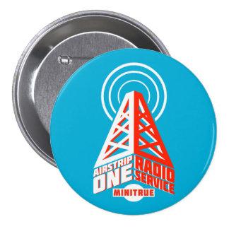 Botones de radio del servicio de la pista de aterr pin