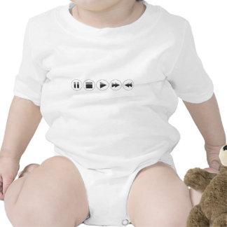Botones de reproducción traje de bebé