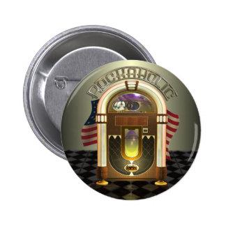 Botones de Rockaholic de la máquina tocadiscos Pin