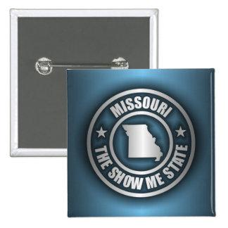 """""""Botones del acero de Missouri (azul)"""" Pin Cuadrado"""