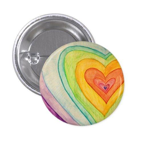 Botones del arte de los corazones de Frienship del Pin