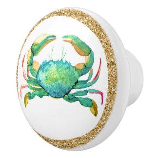 Botones del cajón del cangrejo de la playa