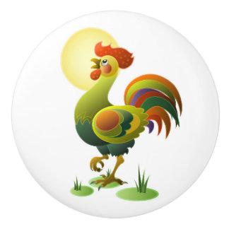 Botones del cajón/del gabinete del gallo - SRF Pomo De Cerámica